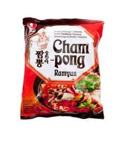 Nong Shim Instant Nudeln Cham-Pong (scharfe Meeresfrüchte) 120g
